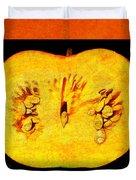 Pumpkin Half Duvet Cover