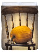 Pumpkin On Chair Duvet Cover