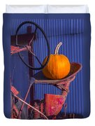 Pumpkin On Tractor Seat Duvet Cover