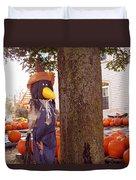 Pumpkin Patch Crow Duvet Cover