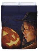 Pumpkin Witch Duvet Cover