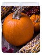Pumpkins And Corn Duvet Cover