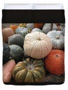 Pumpkins And Gourds Duvet Cover