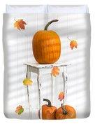 Pumpkins For Thanksgiving Duvet Cover