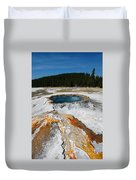 Punch Bowl Spring In Yellowstone Duvet Cover