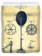 Punching Apparatus Patent Drawing From 1895 -vintage Duvet Cover