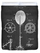 Punching Apparatus Patent Drawing From1895 Duvet Cover