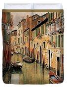 Punte Rosse A Venezia Duvet Cover