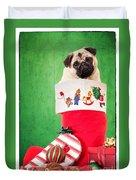 Puppy For Christmas Duvet Cover