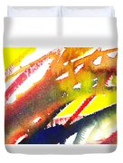 Pure Color Inspiration Abstract Painting Linea Forces Duvet Cover