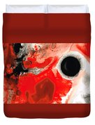 Pure Passion - Red And Black Art Painting Duvet Cover