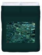 Pure Santorini Island Ocean Water Duvet Cover