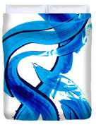 Pure Water 302 - Blue Abstract Art By Sharon Cummings Duvet Cover