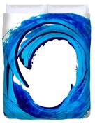 Pure Water 312 - Blue Abstract Art By Sharon Cummings Duvet Cover