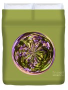 Purpble Wildflower Orb Duvet Cover