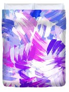 Purple Abstract Paint Pattern Duvet Cover