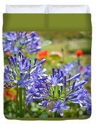 Purple Agapanthas Duvet Cover