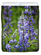 Purple Alaskan Lupines Duvet Cover