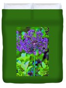 Purple Allium Flower Duvet Cover