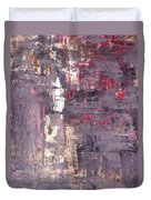 Vineyard - Purple And Beige Abstract Art Painting Duvet Cover