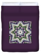 Purple And Green Patchwork Art Duvet Cover
