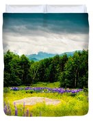 Purple And Mountains And Majesty Duvet Cover