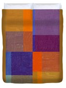 Purple And Orange Get Married Duvet Cover