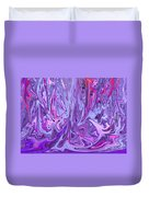 Purple And Pink Abstract Duvet Cover