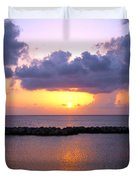 Purple And Pink Sunset Caribbean Dream Duvet Cover
