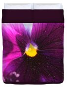 Purple And Pollen Duvet Cover