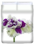 Purple And White Frilly Petunia Duvet Cover