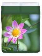 Purple And Yellow Dahlia Duvet Cover