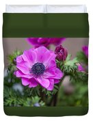 Purple Anemone. Flowers Of Holland Duvet Cover