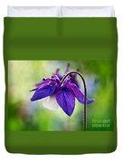 Purple Aquilegia Duvet Cover