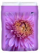 Purple Autumn Mum Duvet Cover