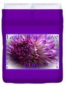 Purple Awareness Support Duvet Cover