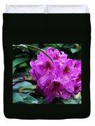 Purple Azalea Duvet Cover