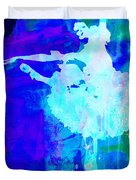Purple Ballerina Watercolor Duvet Cover