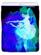 Purple Ballerina Watercolor Duvet Cover