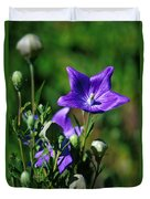 Purple Balloon Flower Duvet Cover