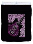 Purple Bass Duvet Cover by Chris Berry