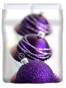 Purple Baubles Duvet Cover