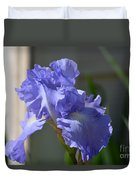 Purple Beauty Iris Duvet Cover