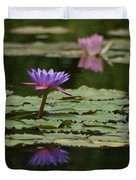 Purple Blossoms Floating Duvet Cover
