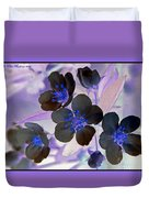 Purple Blue And Gray Duvet Cover
