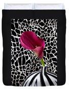 Purple Calla Lily Duvet Cover