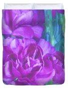 Purple Carnations Duvet Cover