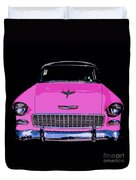 Purple Chevy Pop Art Duvet Cover