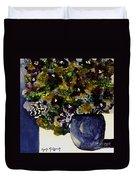 Purple Chrysanthemum Duvet Cover