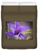 Purple Clematis Close Up Duvet Cover